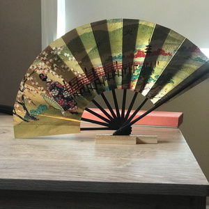 Decorative Gold Vintage Oghi Fan Japan